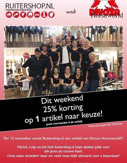 Breaking news, De Ruitershop wordt Divoza!